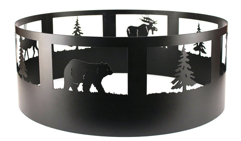 Bear/Tree Campfire Ring