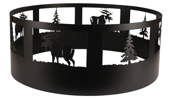 Moose/Tree Campfire Ring - Coast Lamp Shop