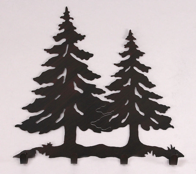 Iron Pine Tree Coat Rack - Coast Lamp Shop