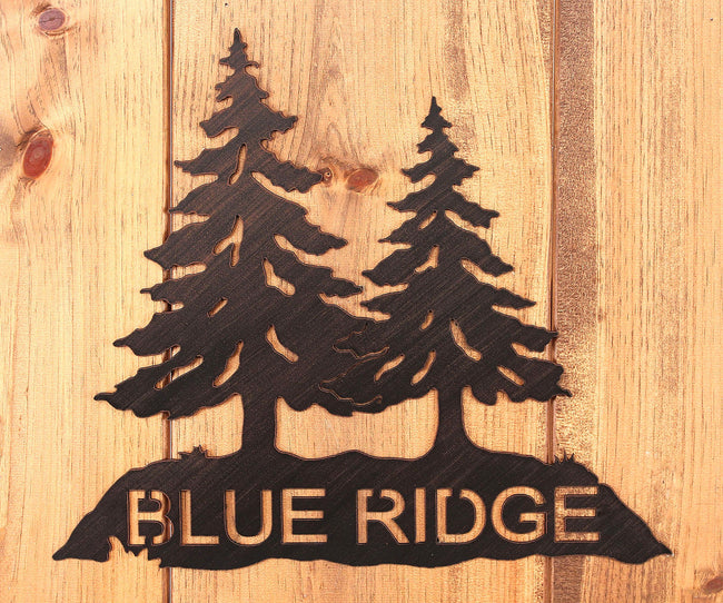 Iron Pine Tree Personalized Sign - Coast Lamp Shop