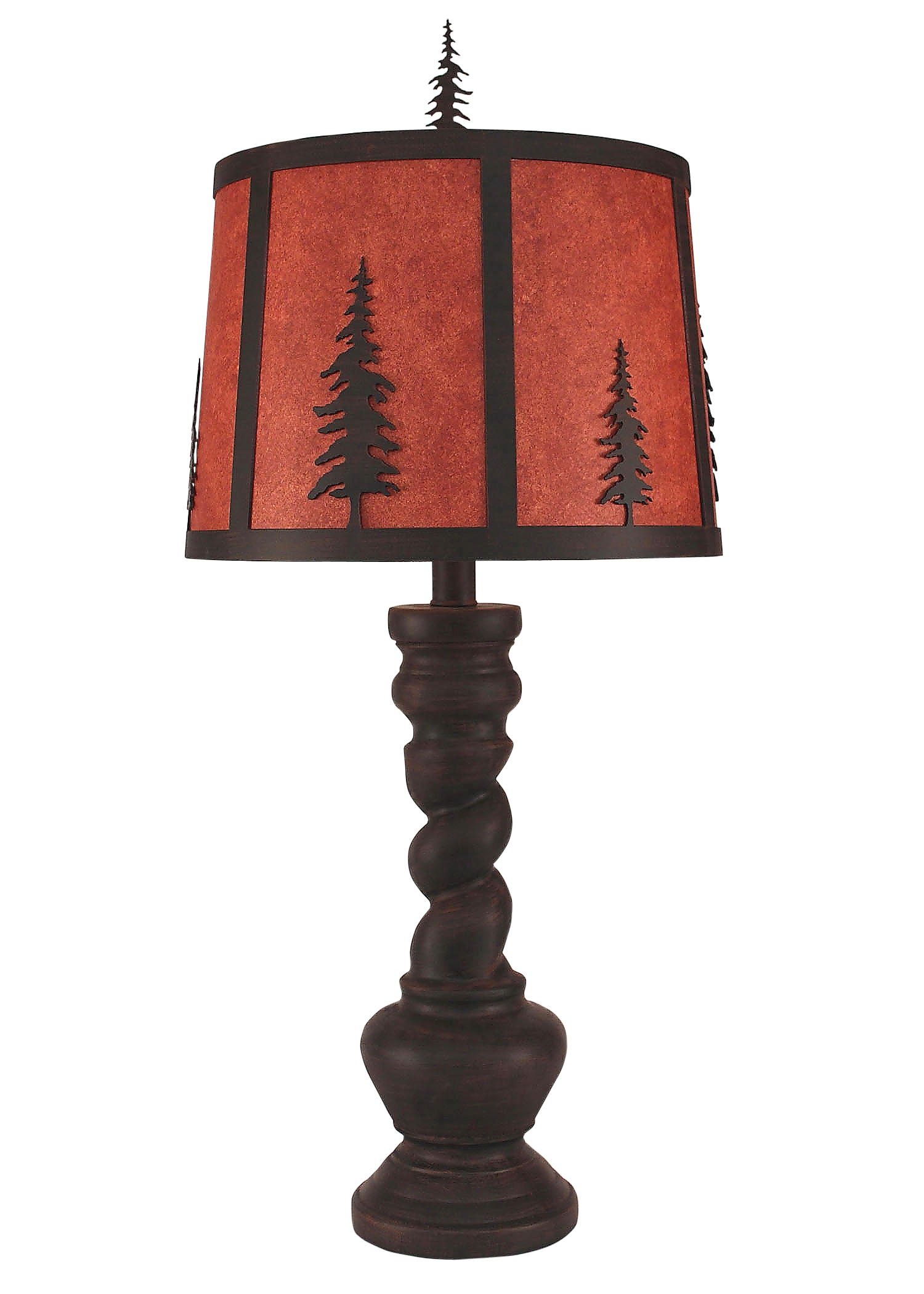 Burnt sienna country twist table lamp w iron tree shade coast burnt sienna country twist table lamp w iron tree shade coast lamp shop aloadofball Images