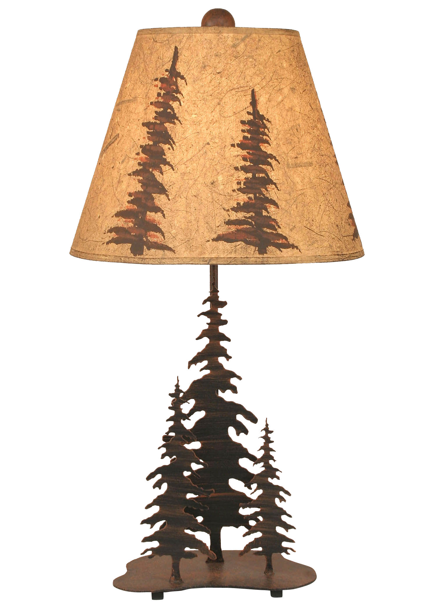 Burnt Sienna 3 Trees Accent Lamp - Coast Lamp Shop