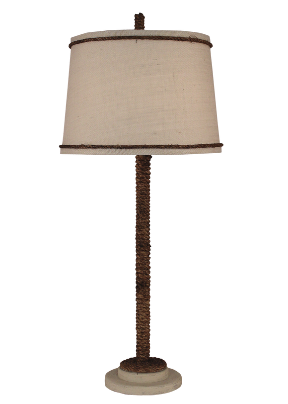 Cottage Manila Rope Table Lamp - Coast Lamp Shop