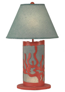 Coral/Seamist Sea Coral Table Lamp w/ Night Light - Coast Lamp Shop