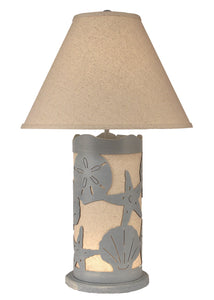 Seaside Villa Multi Shell Table Lamp w/ Night Light - Coast Lamp Shop