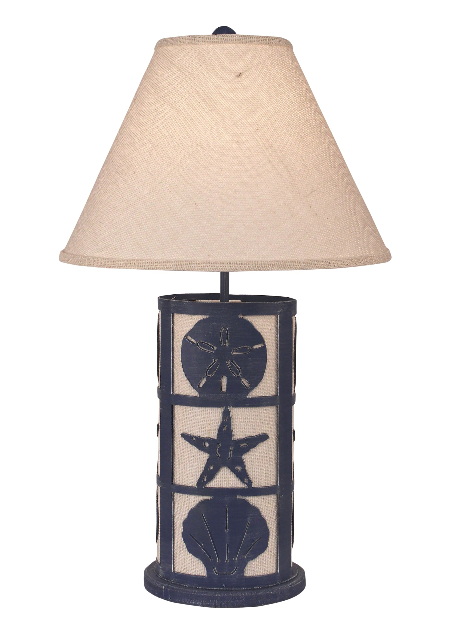 Morning Jewel Framed Shells Table Lamp w/ Night Light - Coast Lamp Shop