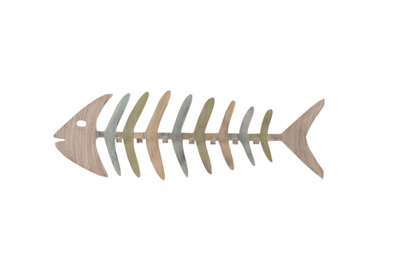 Cottage/Summer Bonefish Coat Rack - Coast Lamp Shop