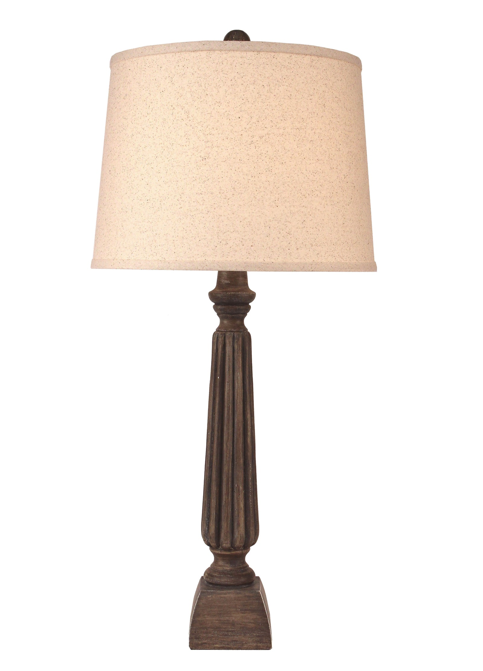 Greywood Ribbed Candlestick Table Lamp - Coast Lamp Shop