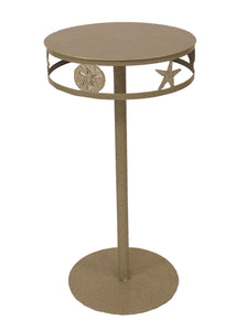 Sisal Drink Table w/ Multi Shell Band - Coast Lamp Shop