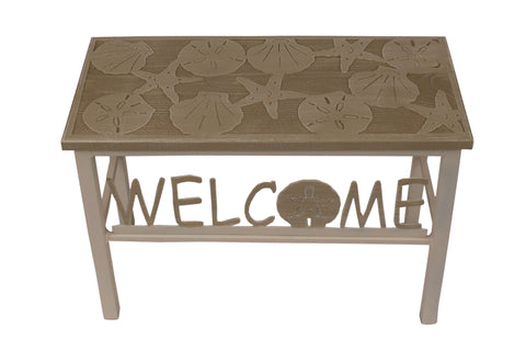 "24"" Cottage/Multi Cottage Stripe Welcome Bench w/ Multi Shell Top"