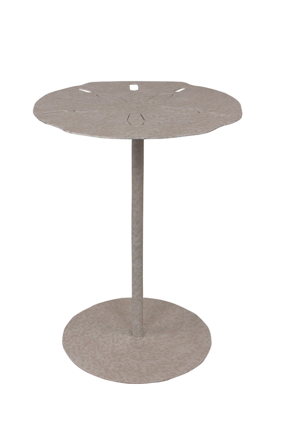 Nude Sand Dollar End Table - Coast Lamp Shop
