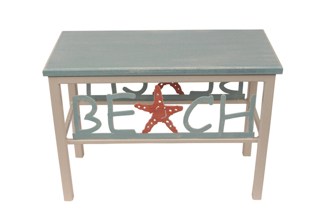 "24"" Beach Starfish  Bench - Coast Lamp Shop"