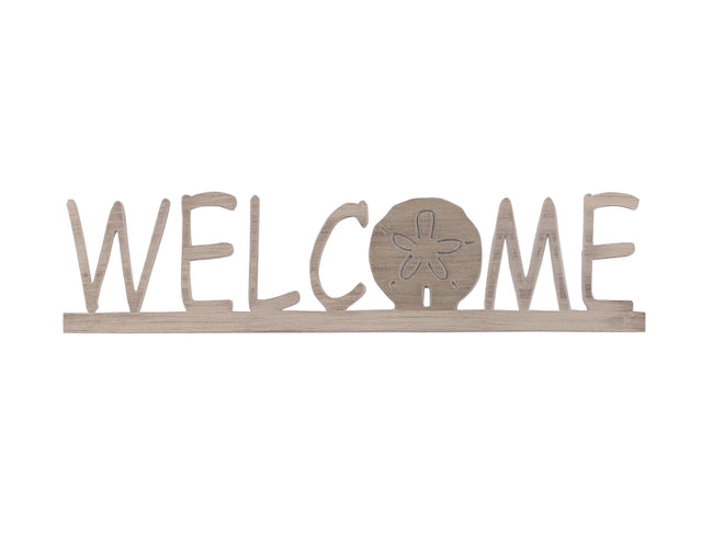 Welcome Sign w/ Sand Dollar Accent - Coast Lamp Shop