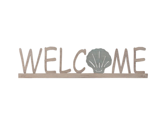 Welcome Sign w/ Shell Accent - Coast Lamp Shop