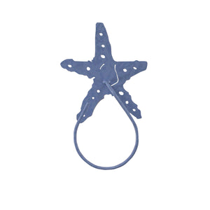 Starfish Iron Hand Towel Holder - Coast Lamp Shop