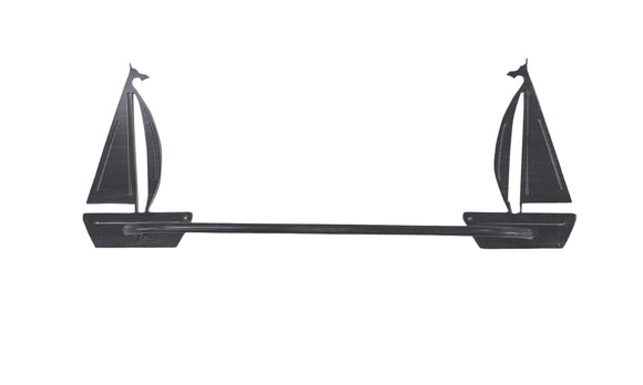 Sail Boat Towel Bar - Coast Lamp Shop