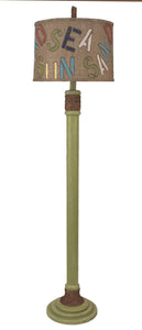 "Weathered Lime ""SUN, SEA, SAND"" Floor Lamp - Coast Lamp Shop"