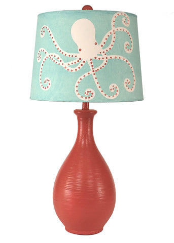 Weathered Nude/Turquoise Sea Sand Dollar Panel Table Lamp