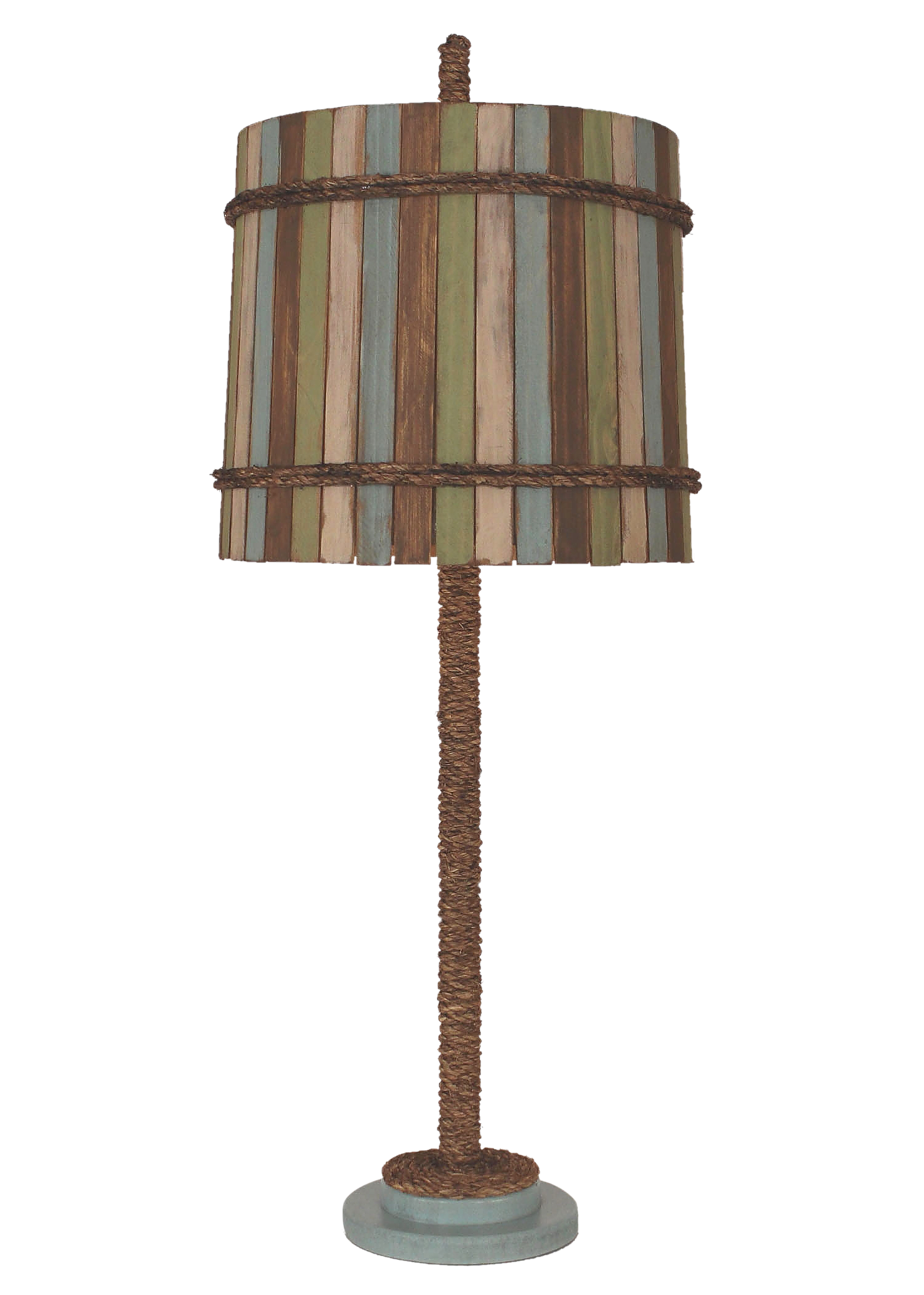 Atlantic Grey Manila Rope Table Lamp - Coast Lamp Shop