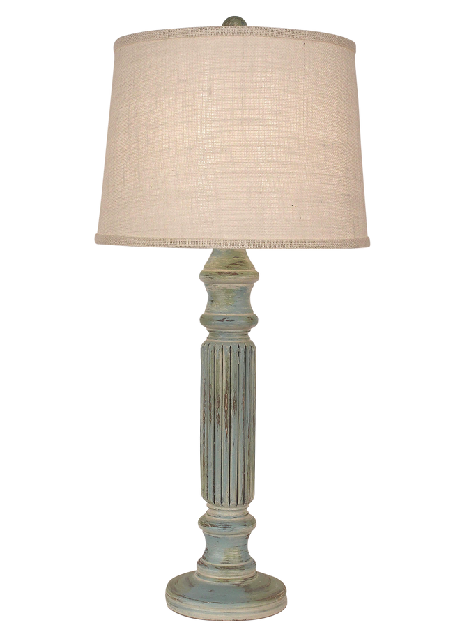 Shabby Summer Ribbed Table Lamp