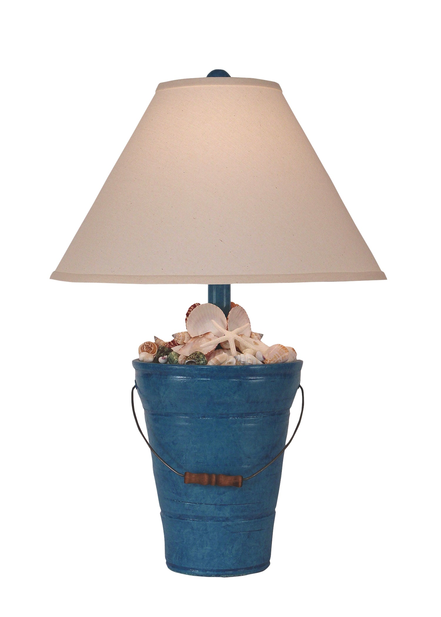 Deep Sea Bucket of Shells Table Lamp - Coast Lamp Shop