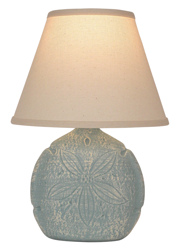 Weathered Atlantic Grey Sand Dollar Accent Lamp - Coast Lamp Shop