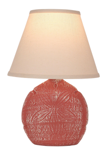 Weathered Coral Sand Dollar Accent Lamp - Coast Lamp Shop