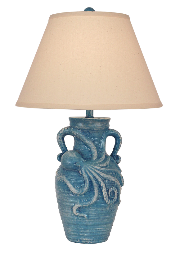 Weathered Deep Sea Octopus Table Lamp - Coast Lamp Shop