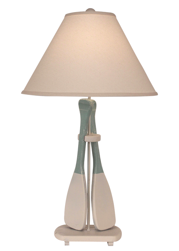 Nude/Shaded Cove 2-Paddle Table Lamp - Coast Lamp Shop