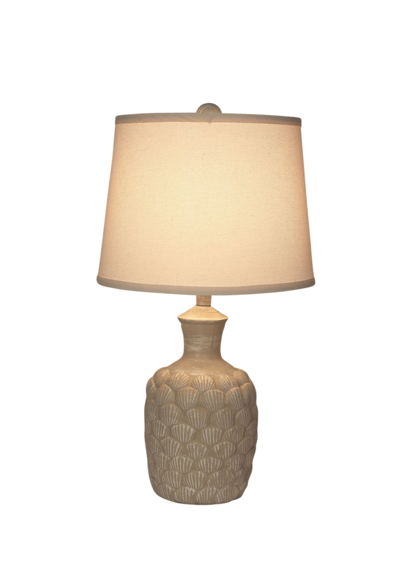 Sisal Shell Accent Lamp - Coast Lamp Shop