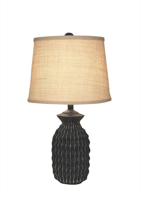 Weathered Navy Short Textured Pot - Coast Lamp Shop