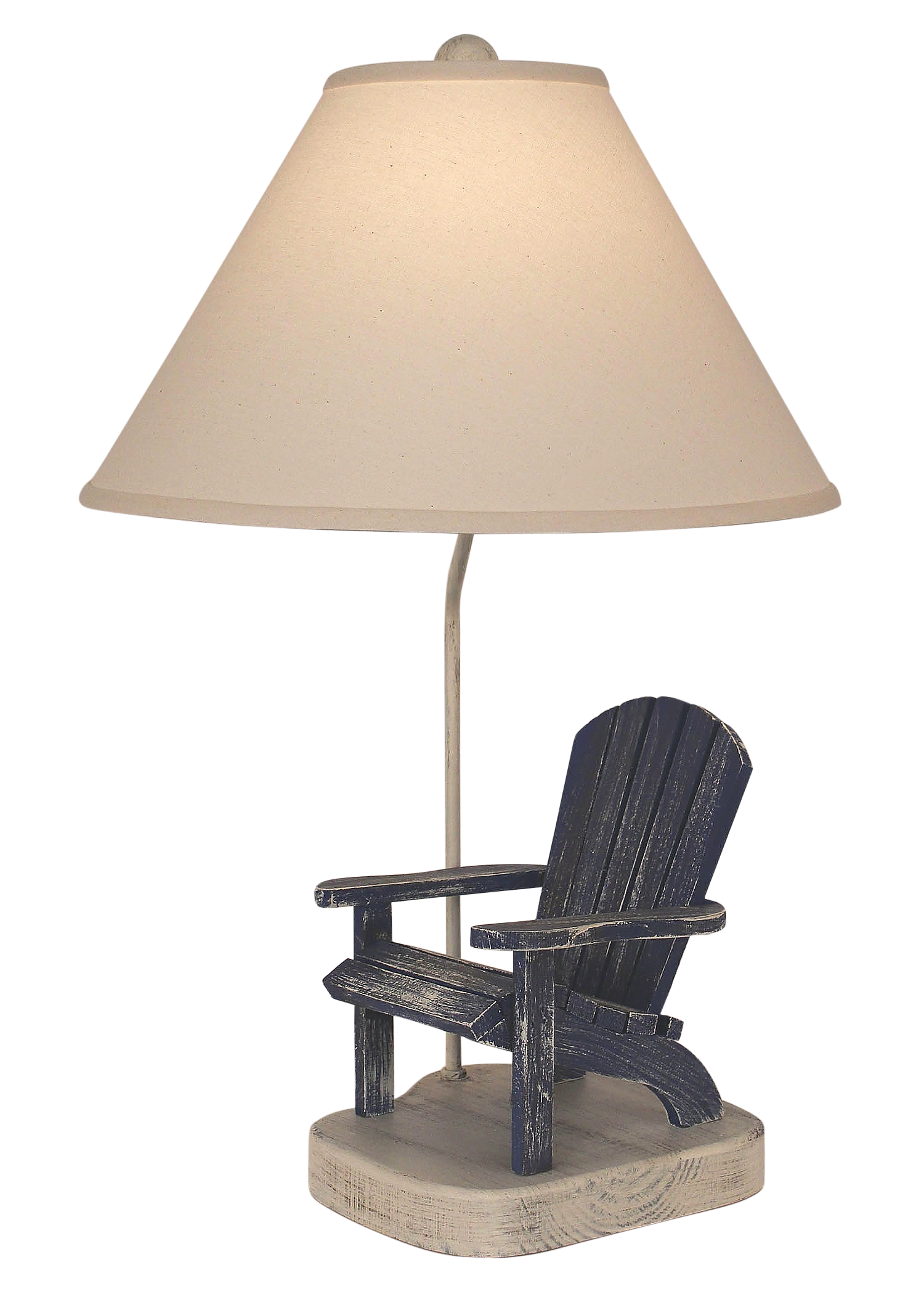 Cottage/Morning Jewel Adirondak Chair Table Lamp - Coast Lamp Shop