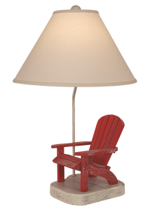 Cottage/Red Adirondak Chair Table Lamp - Coast Lamp Shop