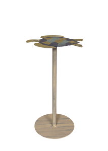 Bright Stripe Iron Turtle Drink Table - Coast Lamp Shop