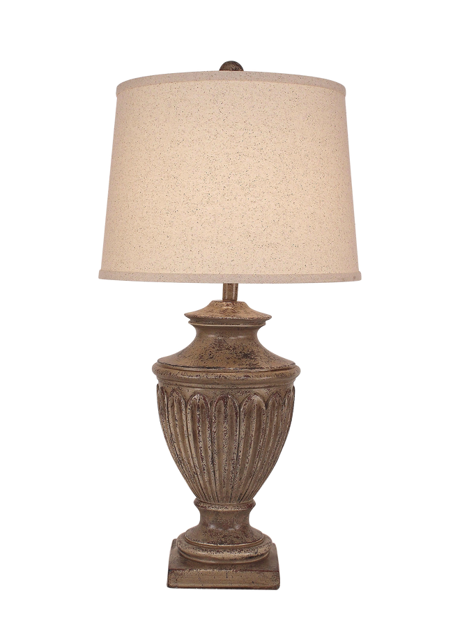Tarnished Cottage Urn Table Lamp