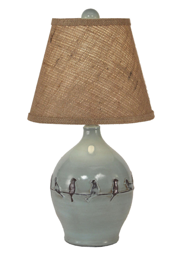Distressed Atlantic Grey Birds on a Branch Accent Lamp - Coast Lamp Shop
