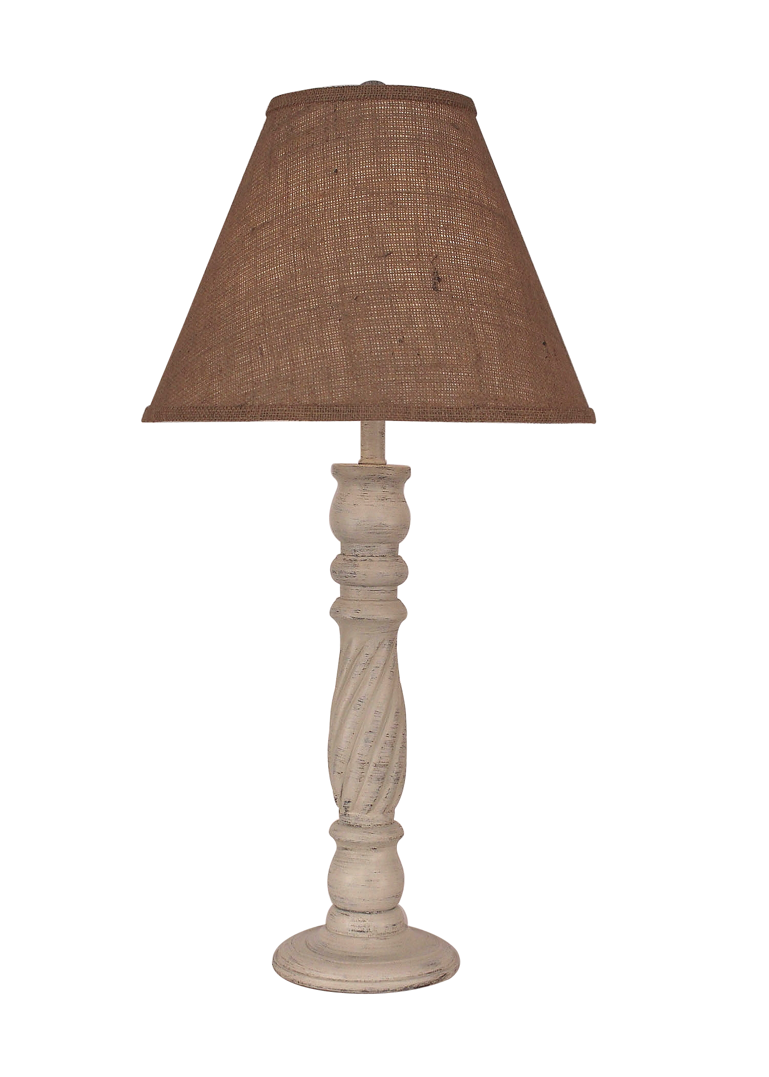 Cottage Swirl Candlestick Table Lamp - Coast Lamp Shop