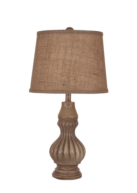 Cottage Glazed Ribbed Genie Accent Lamp - Coast Lamp Shop