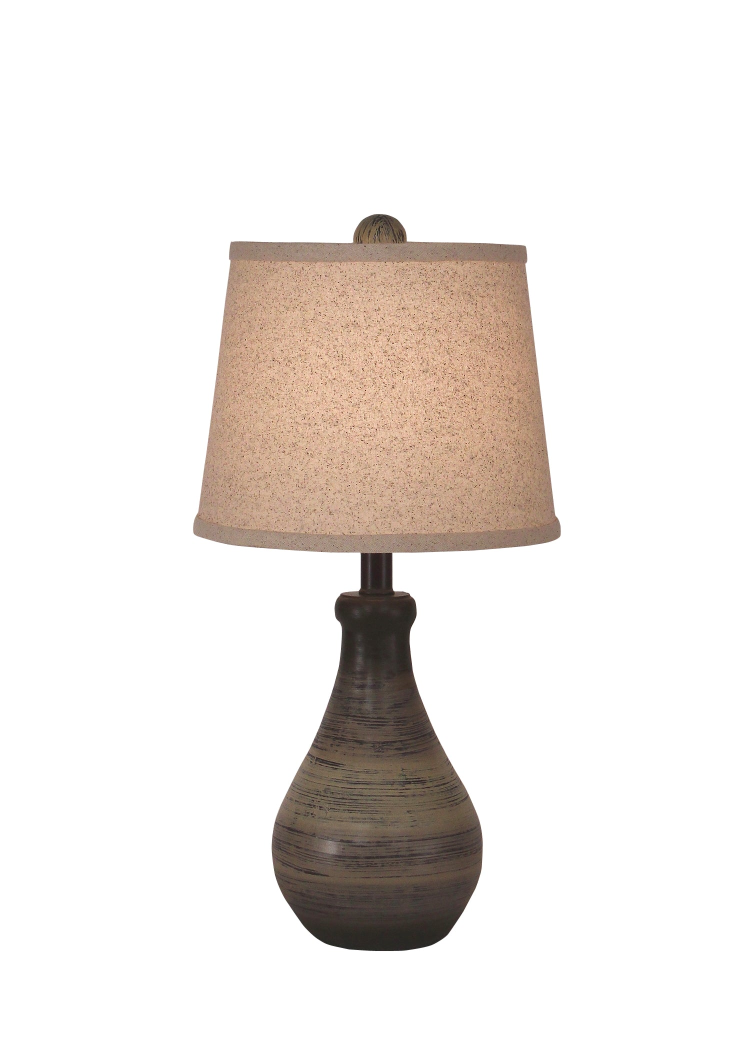 Earthstone Small Eggplant Clay Table Lamp - Coast Lamp Shop