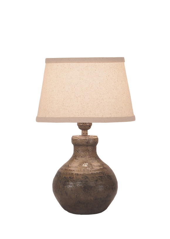 Tarnished Cottage Mini Clay Accent Lamp - Coast Lamp Shop