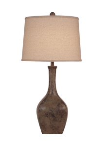 Tarnished Cottage Oval Genie Table Lamp - Coast Lamp Shop