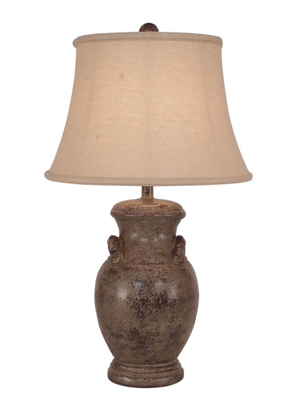Tarnished Cottage Crock w/ Handles - Coast Lamp Shop