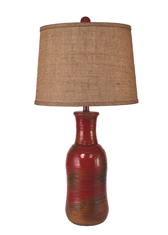 Firebrick Faux Clay Water Jug - Coast Lamp Shop