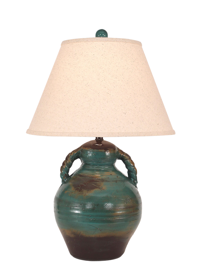 Harvest Swirl Handled Pottery Table Lamp - Coast Lamp Shop