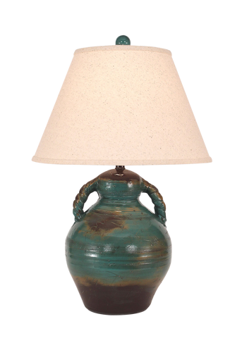 Cottaged Lime Square Candlestick Table Lamp