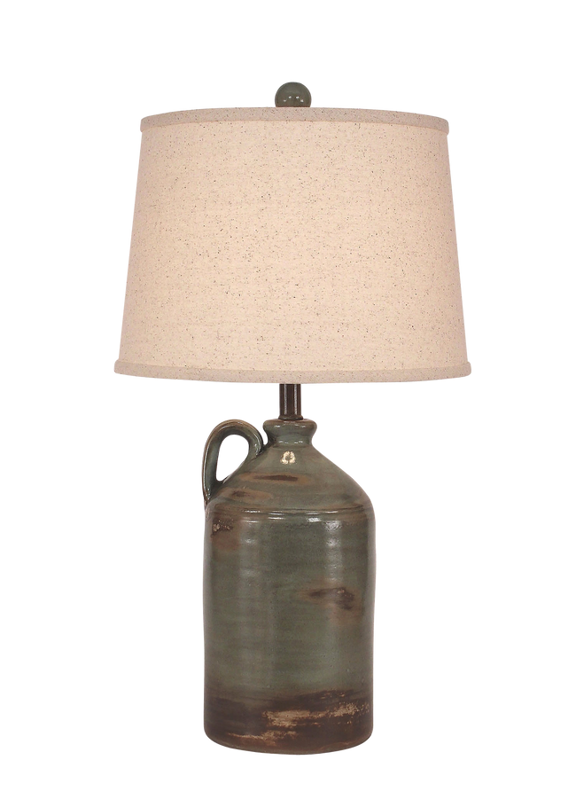 Harbor 1-Handle Pottery Jug Table Lamp - Coast Lamp Shop