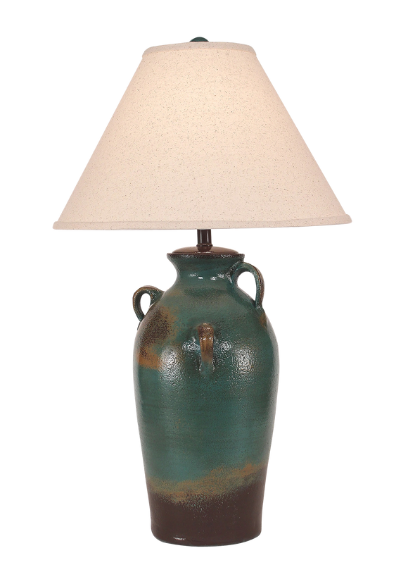 Harvest 3-Handle Pottery Table Lamp - Coast Lamp Shop