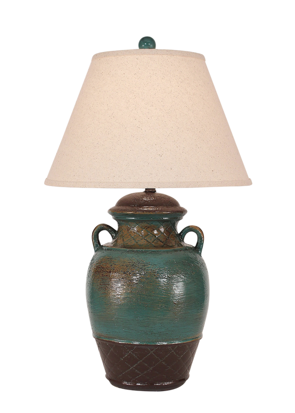 Harvest Ginger Jar w/ 2 Handles - Coast Lamp Shop