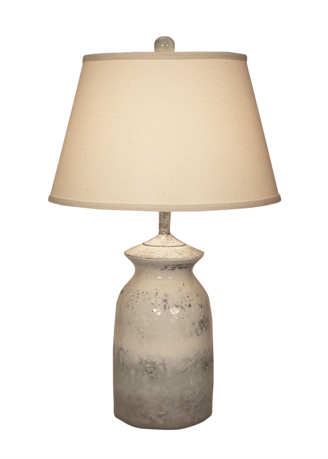 Alabaster Short Pottery Table Lamp - Coast Lamp Shop