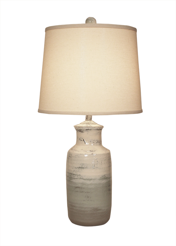 Alabaster Tall Pottery Table Lamp - Coast Lamp Shop